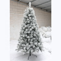 Hot sell new PE&PVC xmas decorative flocked snowing artificial decorative christmas tree