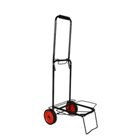 Promotional lightweight metal travel carrier portable shopping trolley folding luggage cart