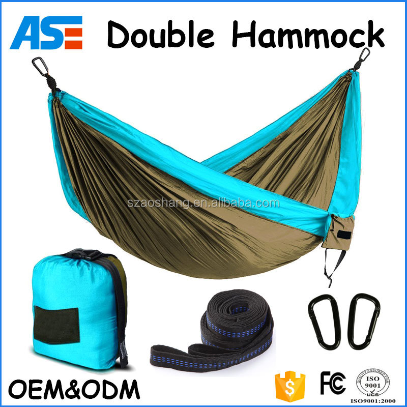 Camping Hammock- Easy Hanging Double Hammock with Tree Straps&Carabiners