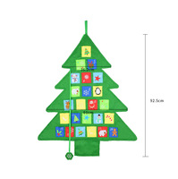 2019 Custom Wholesale Premium Eco-friendly Fabric Felt Christmas Advent Calendar