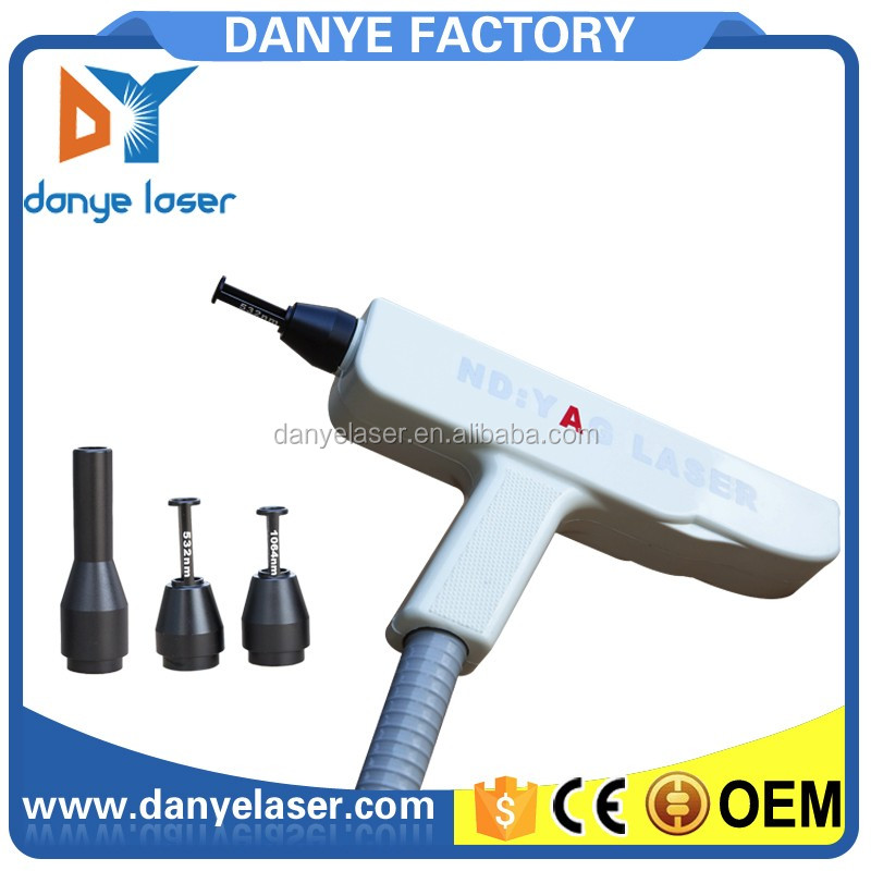 Nd yag laser q switch laser tattoo removal handpiece