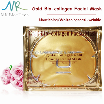 Masque Facial collagène Or 24 K/pur or collagène masque Facial anti-rides anti-âge blanchissant