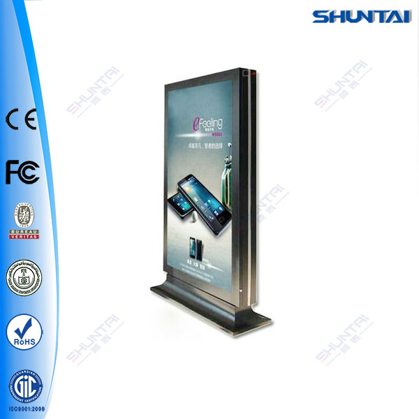 City outdoor double sided scrolling advertising light box