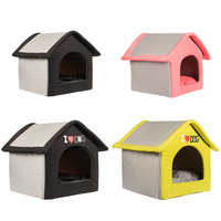 wholesale indoor Portable fancy luxury foldable warm pet dog house