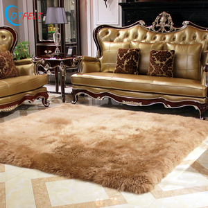 Sheepskin Leather hand tufted wool rugs and carpets