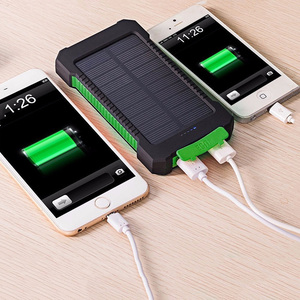 Li polymer battery 2 port usb solar charger 8000mah power bank for smartphone