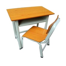 malaysia school furniture student desk with drawer and chair set