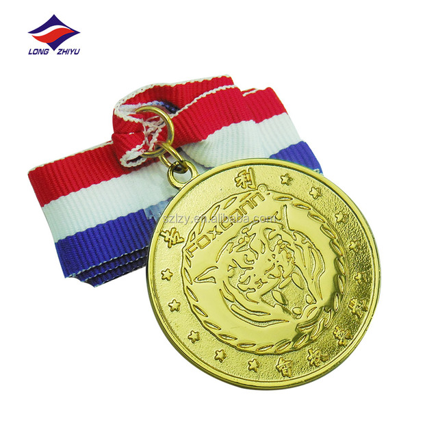 Excellent quality metal crafts and arts medal with ribbon