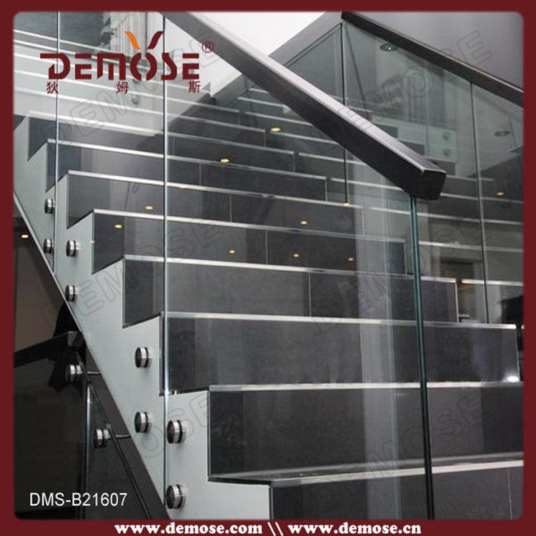 Acero inoxidable valla de dise o de vidrio para escaleras - Vallas de diseno ...