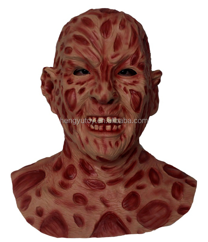 2015 Halloween best selling party rubber Freddy Krueger masks for DIY Halloween props