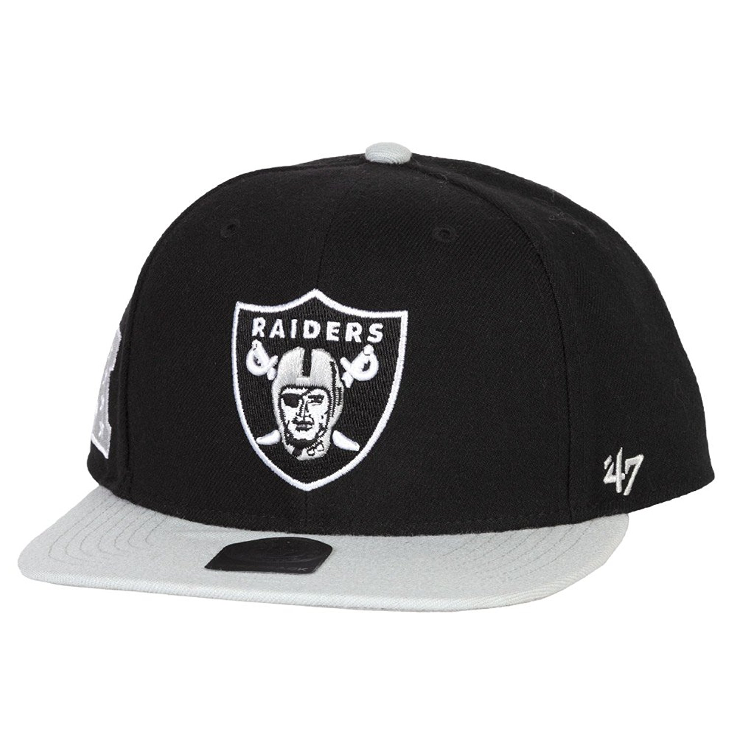 Get Quotations · 47 Brand Oakland Raiders Two-Toned Super Shot Mens  Snapback Hat 5e9a371cc2