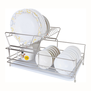 Collapsible Stainless Kitchen Dish Plate Drying Rack Holder