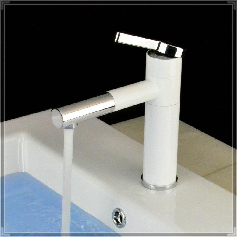 short grilled white porcelain body basin faucets rotation long spout brass mixer faucet sink tap. Black Bedroom Furniture Sets. Home Design Ideas