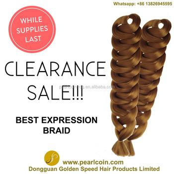 Xpression Jumbo Braids Crochet Hair Extension - Buy Pre Braided ...