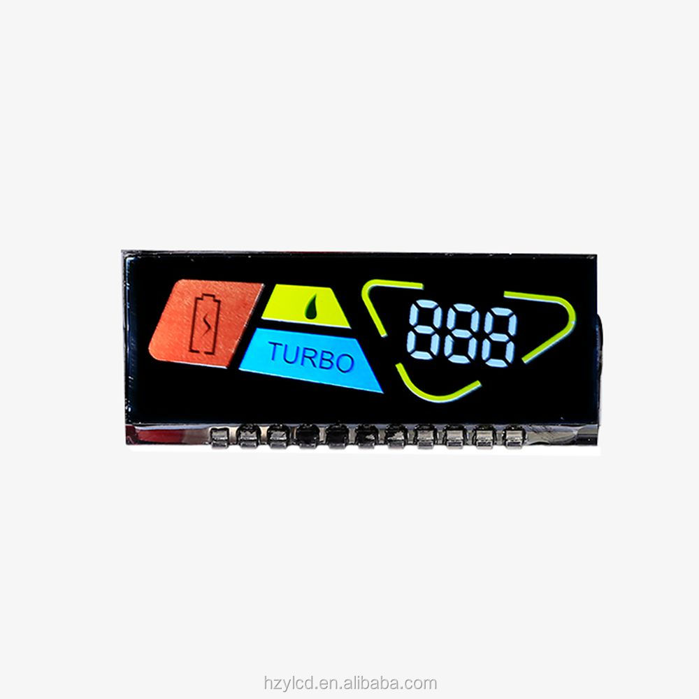 2017 good sale customized product Rohs alphanumeric monochrome lcd display VA display for dashboard
