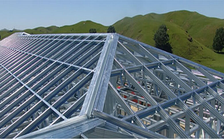 Prefabricated galvanized metal roof truss design buy for Manufactured roof trusses