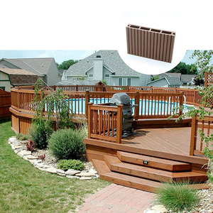 Recycled Composite Decking Board Deck Covering Material WPC Decking Flooring For Outdoor
