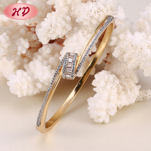 Jewelry Manufacturer Design Fashion Gold Plated India Zircon Bangle
