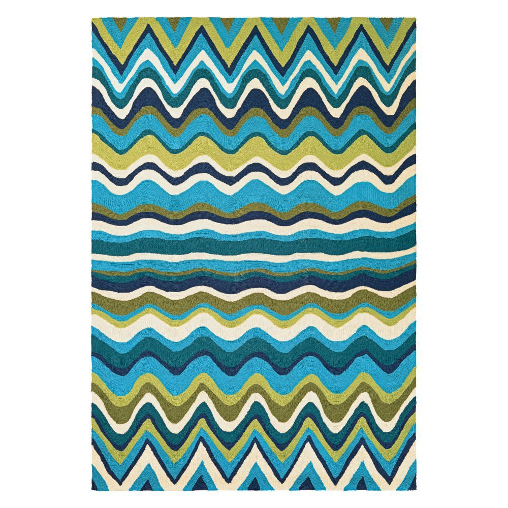Couristan Beachfront Cannon Beach Rug, 2'6 x 8'6'' Rn, Multicolor/Ivory