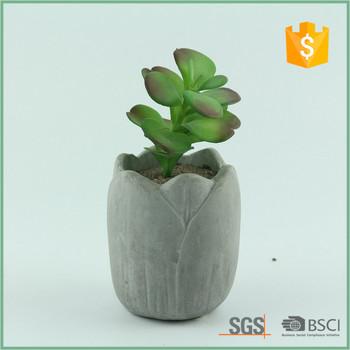 Contemporary Round Natural Stone Design Decorative Cement Plant Flower Planter Pots