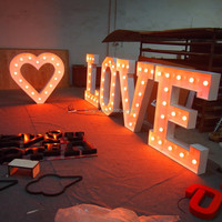 Custom made love letter 4ft marquee lights sign decorative led light up love bulbs letters