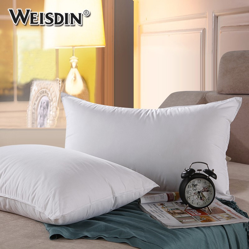 China factory cheap wholesale hotel luxury cotton quilted cover duck down feather pillows for sleep