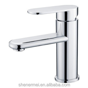 High Quality Brass Single Hole Bathroom Faucet Basin Faucets Hot And Cold Water Mixer Tap 2 Pcs