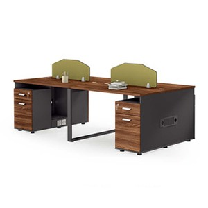 JOHOO wholesale furniture staff office tables and chairs set/classic mdf wooden 4 person office desk