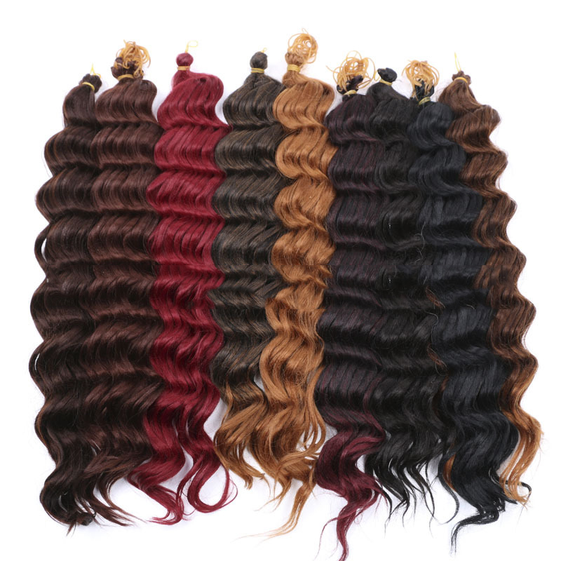New style clip in heat resistant synthet multicolor hair piece for black women