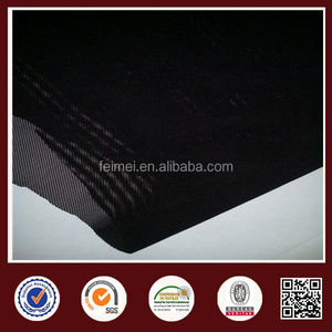 Black 100% Nylon Mesh Knit Fabric