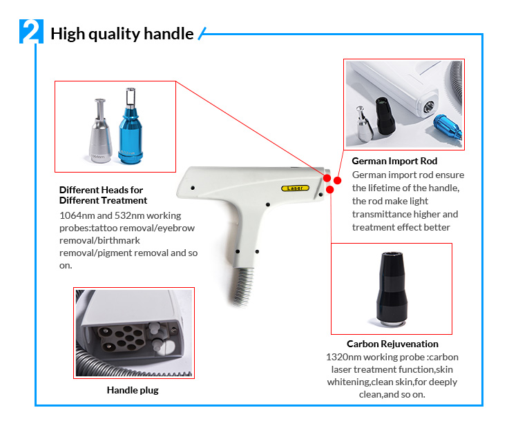 China Low Price Portable Mini Q Switched Nd:Yag Nd Yag Rejuvi Laser For Tattoo Removal Machine