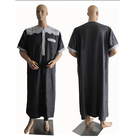 Fashion high quality mens clothing arab men robe islamic abaya hot sale robe muslim