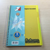 Project Writing Book School Student Single Spiral Notebook Divided Subject French Line Book