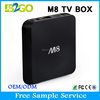 OEM/ODM WELCOMED ! M8 google android 5.1 smart tv box over 6 meters IR remote control
