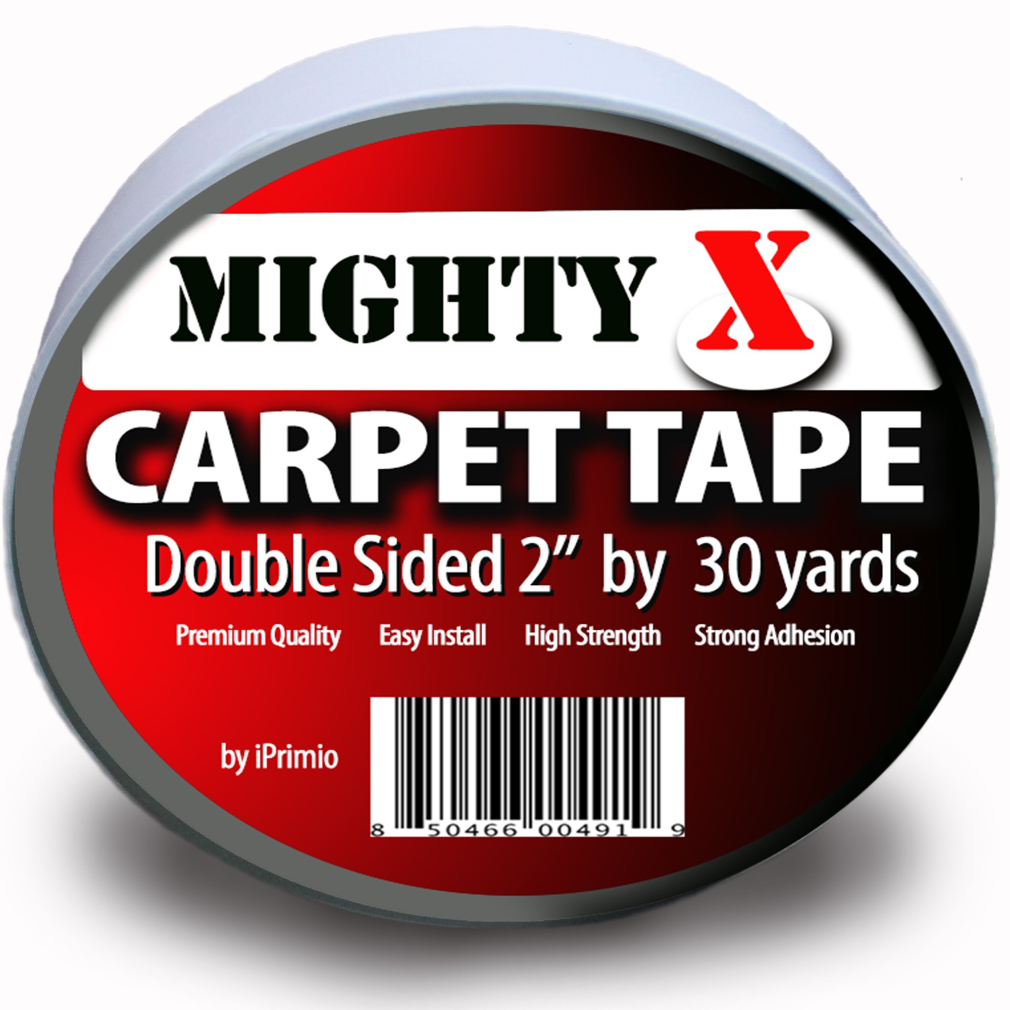 "Mighty ""X"" Indoor Rug / Carpet Tape Double Sided 30 Yards x 2 Inches - Extra Thick - Heavy Duty by iPrimio"