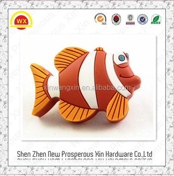 Hot sale plastic fish shape unique cabinet knob