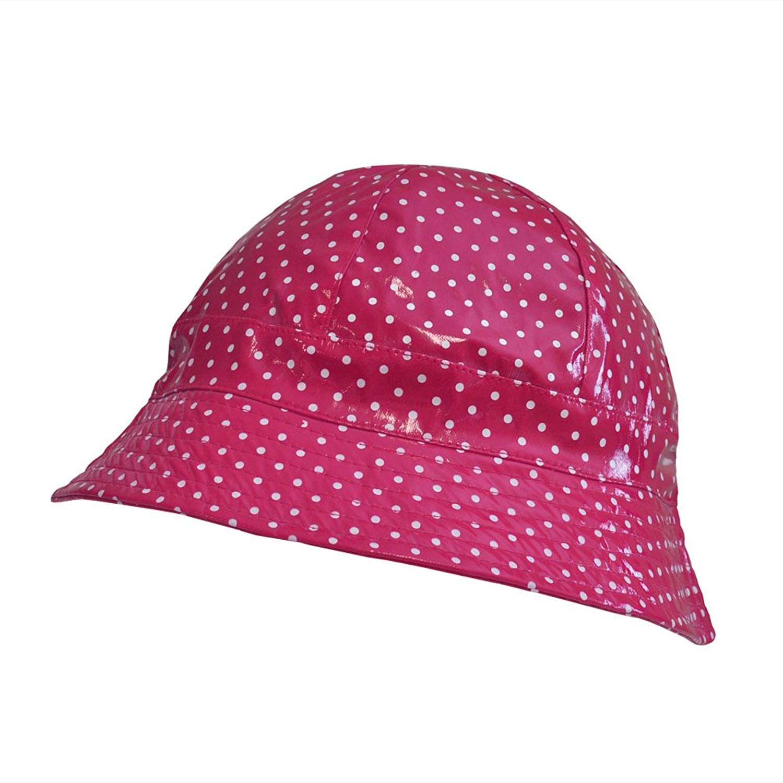 6418c2a8227b2 Wide-Brimmed Vinyl Rain Hat Blue Hats Clothing