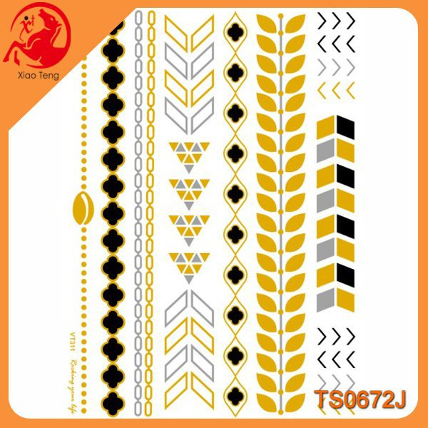 2015 Tattoos Temporary,New Product Tattoo Sticker,Golden Tattoo