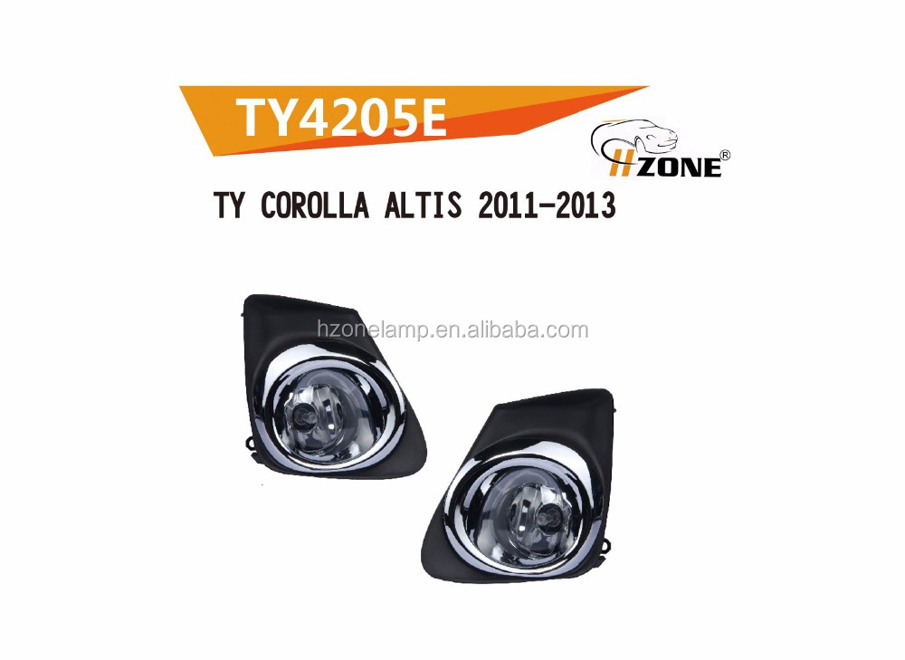 hot sale 12v 55w fog lamp light for TY COROLLA ALTIS 2011-ON with DOT SAE certification