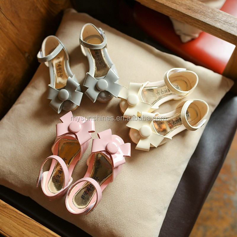378a99667a2d Size 26-30 Fashion Children Shoes 2017 Summer Style Girls Princess Child  Shoe Big Bow