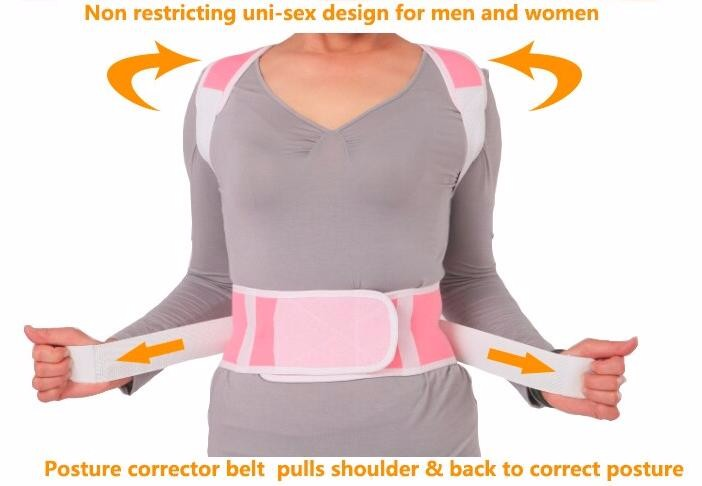 Alibaba hot sale China magnetic therapy back support neoprene magnetic posture corrector brace