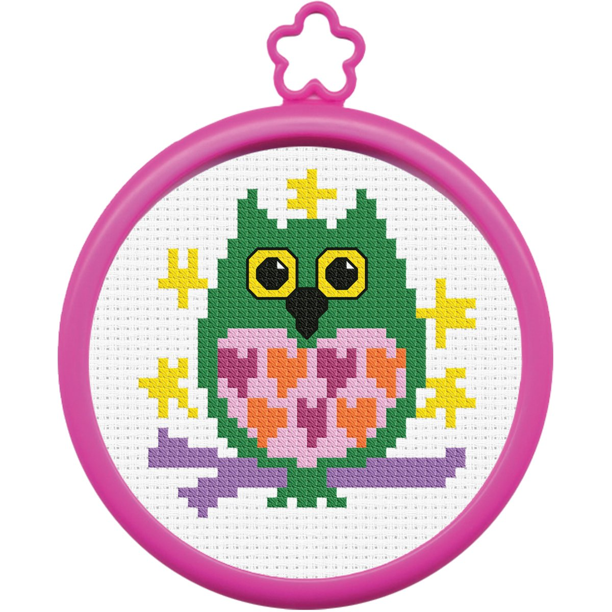 Bucilla My 1st Stitch Mini Counted Cross Stitch Kit, 45641 Owl