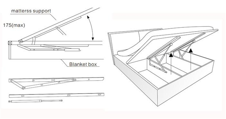 Bunk Beds Are Used In Wall Mount Folding Hinge Wall Bed