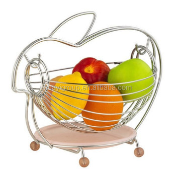 Chrome Metal Wire Kitchen Fruit Basket Dinning Table Decoration Tree Product On