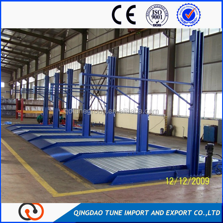 Car lifting pallet parking system commercial parking area