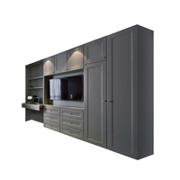 Knocked-down Modern Wholesale China wooden walk in style bedroom wardrobe closet furniture
