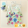 Light Green Color Loveable Kids Princess Medium Casual Dress Girls Dress Princess Embroidered Fabric Floral Dress