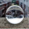 40mm clear glass sphere decoration crystal ball for gift