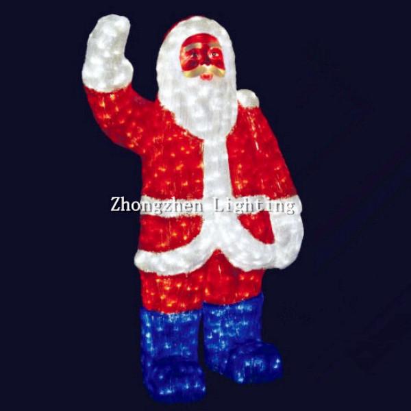 Feet light up christmas d led acrylic