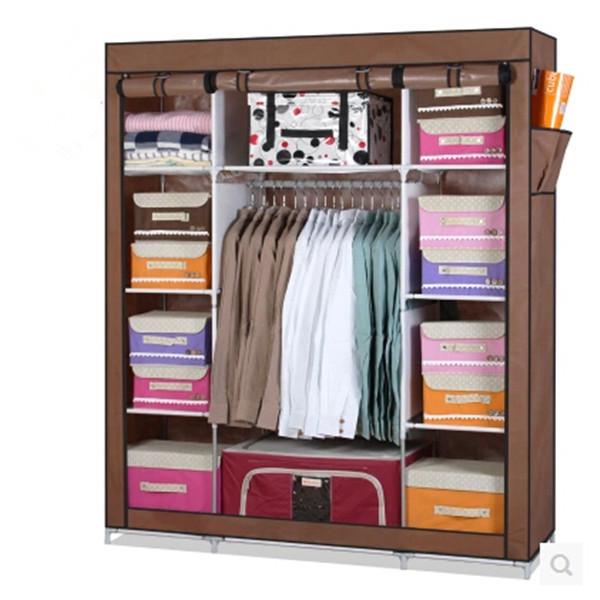 2019 Clothes storage furniture wardrobe DIY Non woven fold